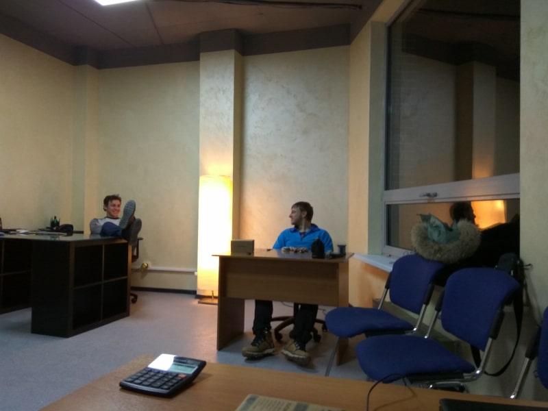 Первый офис Saleads 18м2 и первые наемные сотрудники